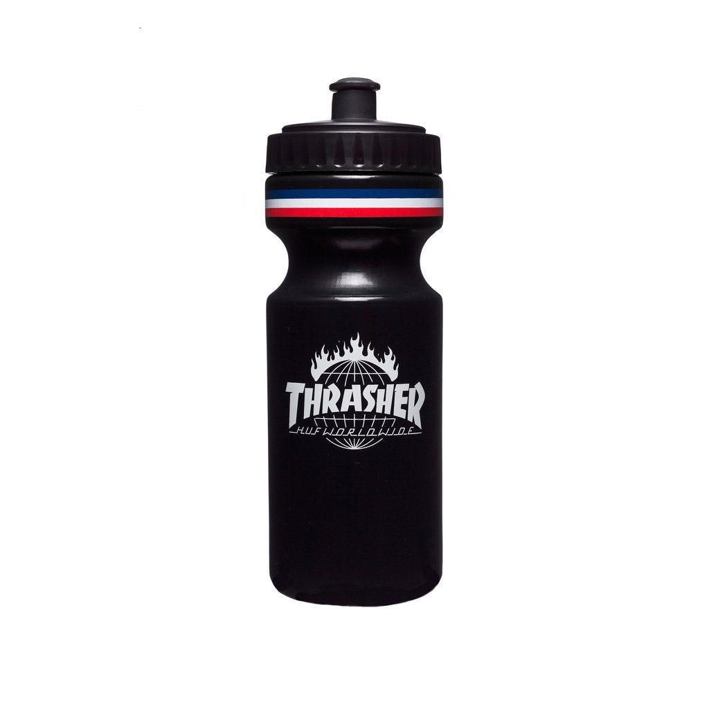 HUF X THRASHER WATER BOTTLE \\ BLACK-The Collateral