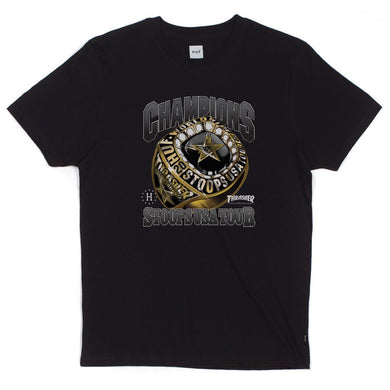 HUF X THRASHER WORLD CHAMPS TEE // BLACK-The Collateral
