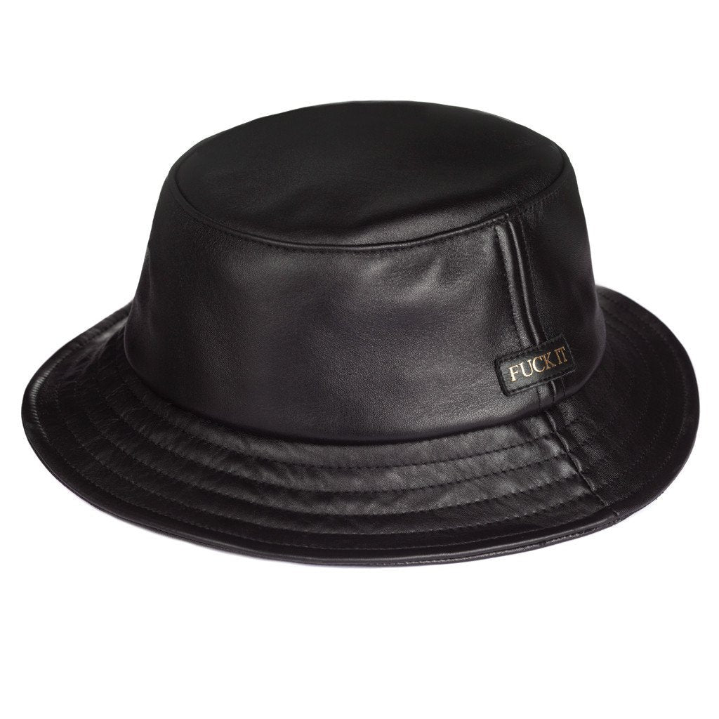 HUF FUCK IT LEATHER BUCKET HAT