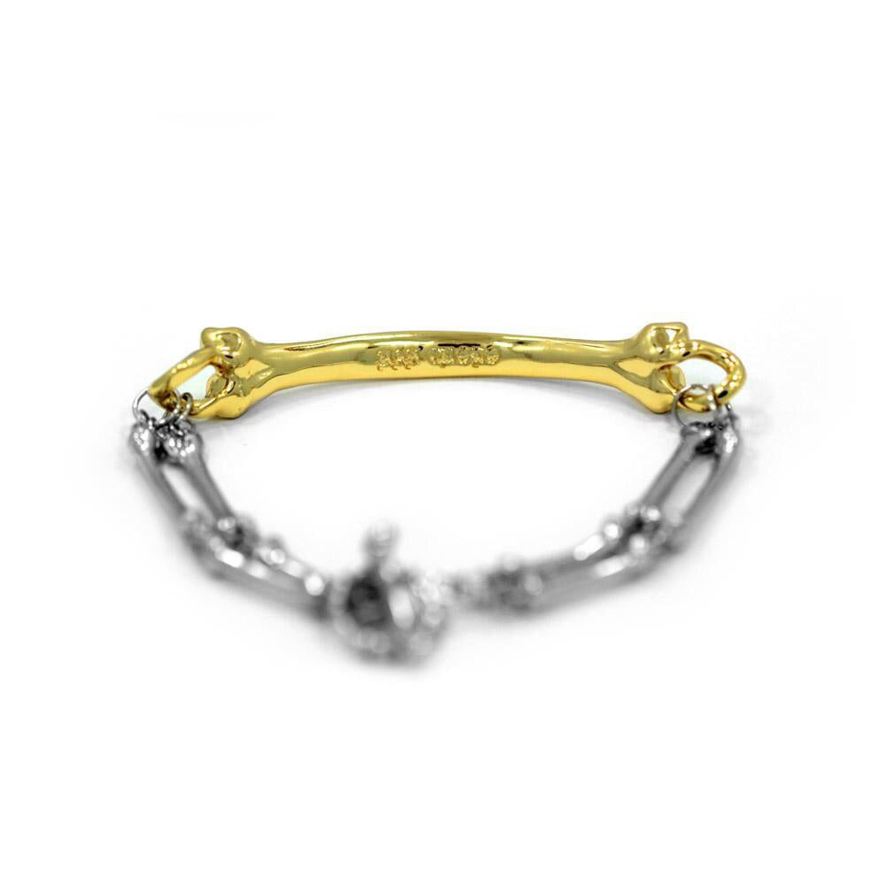HAN CHOLO BONE BRACELET // STANLESS STEEL