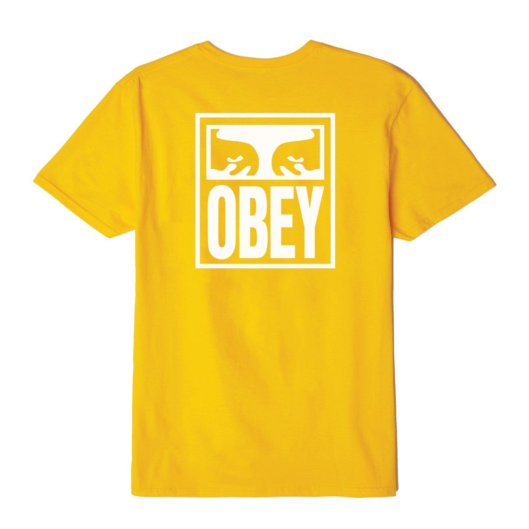 OBEY EYES ICON TEE // GOLD