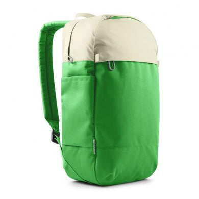 incase Campus Compact Backpack // WHITE-KELLY GREEN-The Collateral