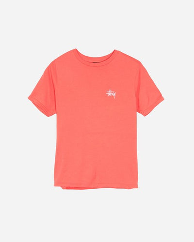 STÜSSY BASIC TEE // ROSE