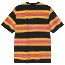 STÜSSY MULTI STRIPE CREW // BLACK