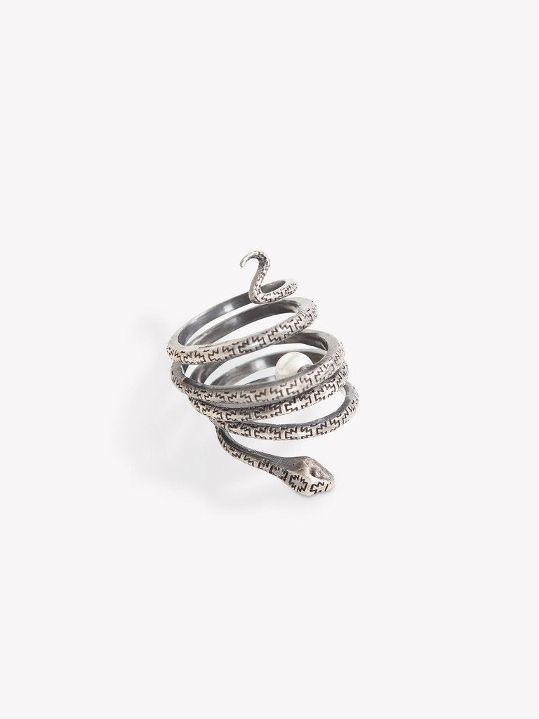 OBEY BELLY OF THE SNAKE RING // ANTIQUE SILVER-The Collateral