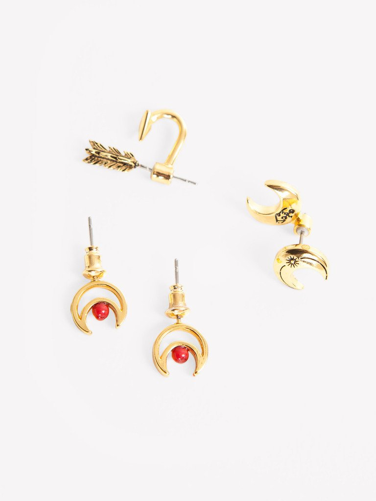 OBEY BLOOD MOON EARRING PACK // ANTIQUE GOLD-The Collateral