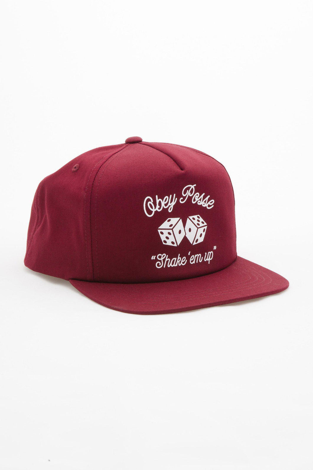 OBEY DICE SNAPBACK BURGUNDY-The Collateral