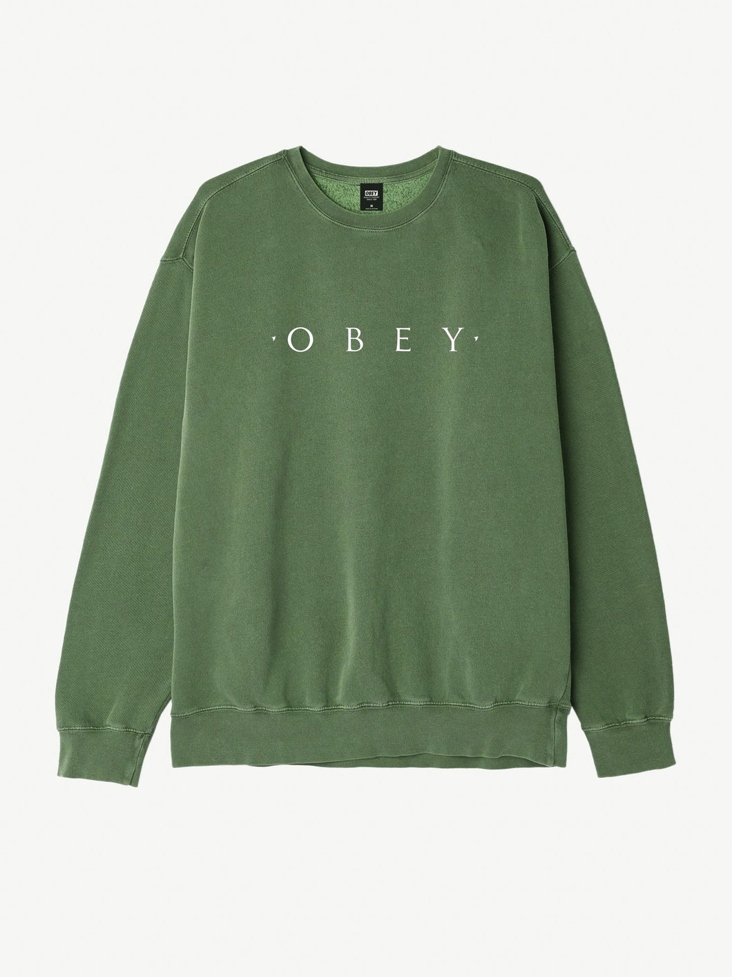 OBEY NOVEL OBEY BASIC FLEECE CREW PIGMENT // DUSTY FOREST-The Collateral