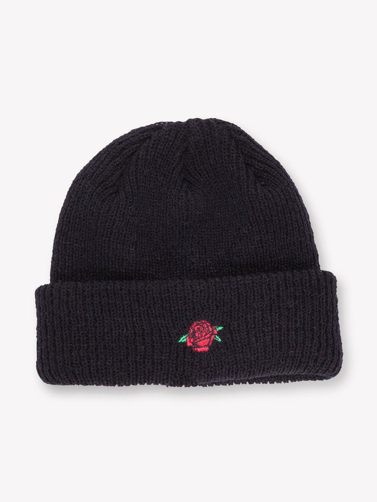 OBEY ROSE BEANIE // BLACK-The Collateral