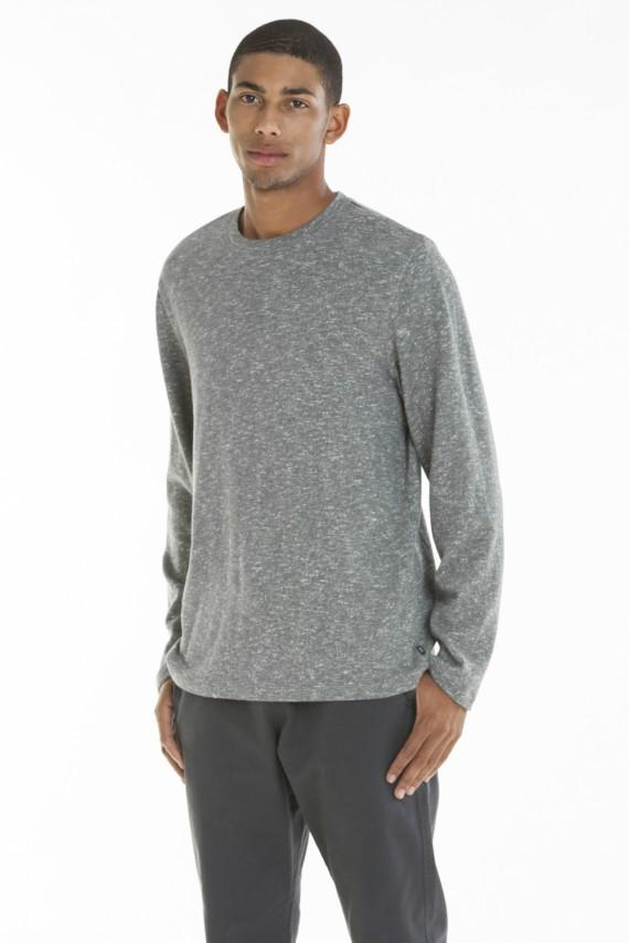 OBEY SHATTO CREW NECK SWEATSHIRT HEATHER GREY-The Collateral