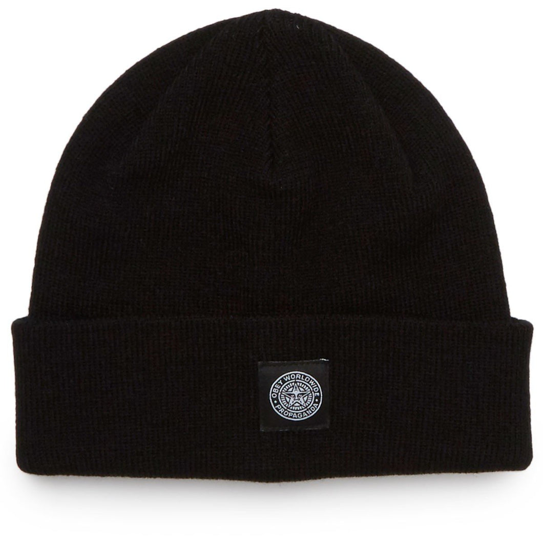 OBEY WORLDWIDE SEAL BEANIE // BLACK-The Collateral