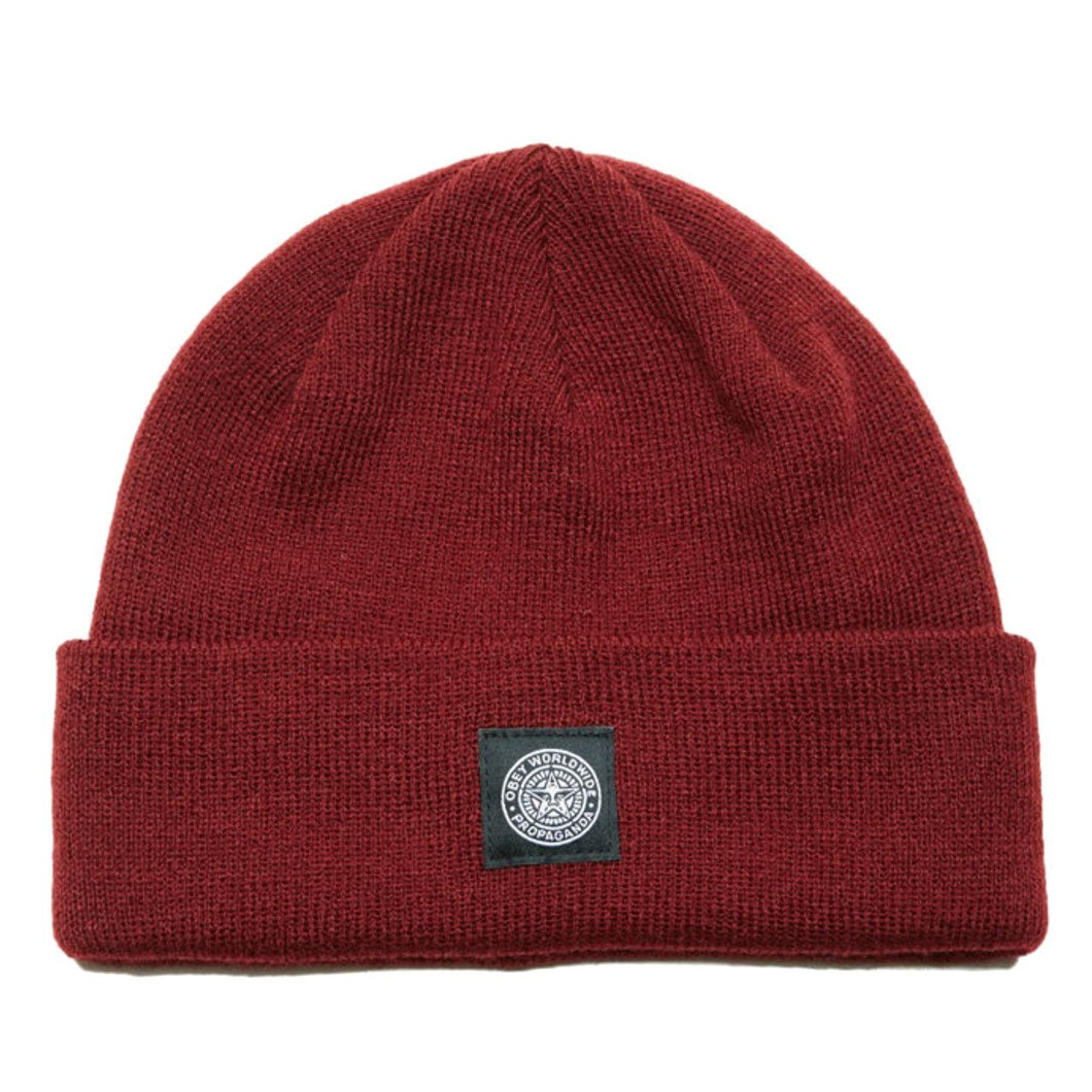 OBEY WORLDWIDE SEAL BEANIE // BURGUNDY-The Collateral