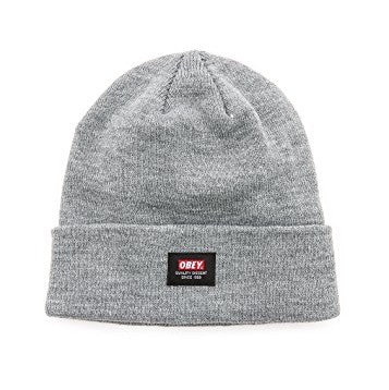 OBEY QUALITY DISSENT BEANIE // HEATHER GREY