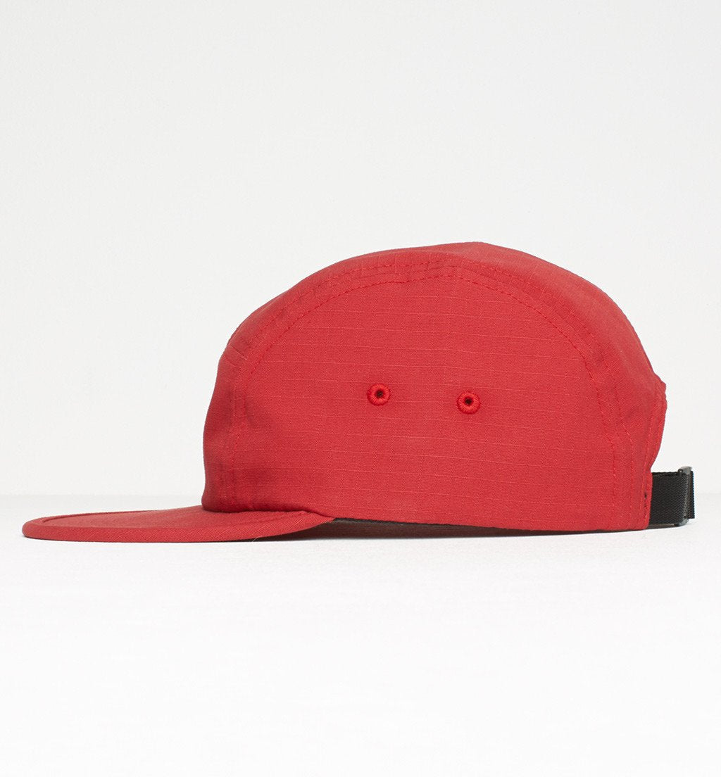 cd8aa4e236fcf PARRA 5 PANEL VOLLEY HAT PARRA SIGNATURE    RED RIPSTOP-The Collateral ...