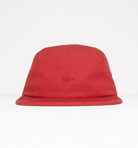 PARRA 5 PANEL VOLLEY HAT PARRA SIGNATURE // RED RIPSTOP-The Collateral