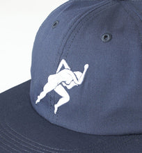 PARRA 6 PANEL HAT LUST WITH FLEX VISOR // NAVY BLUE-The Collateral