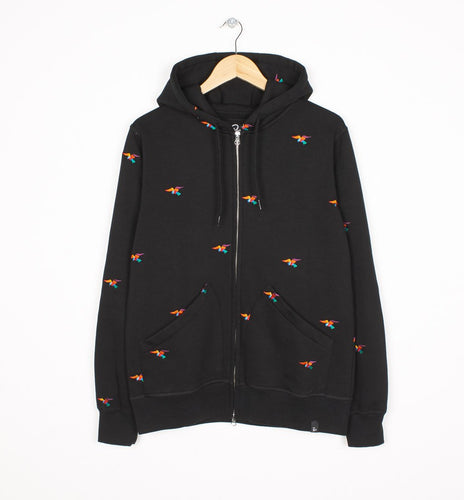 PARRA HOODED VEST BIRDS ALLOVER-The Collateral