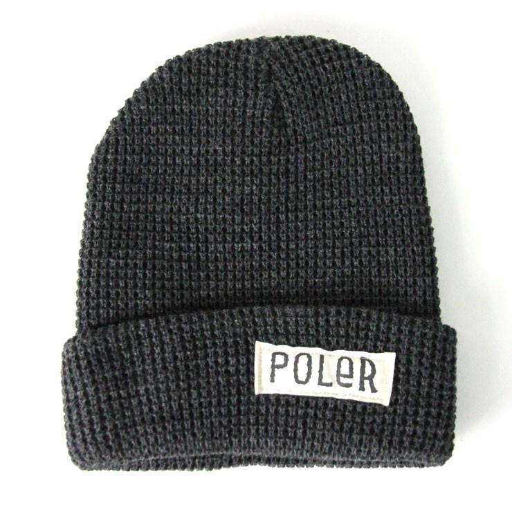 POLER WORKERMAN BEANIE // CHARCOAL HEATHER-The Collateral