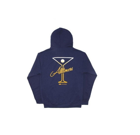 ALLTIMERS Puff Classic Logo Hoodie Navy
