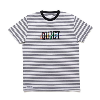 THE QUIET LIFE RAINBOW EMBROIDERED S/S TEE // STRIPE