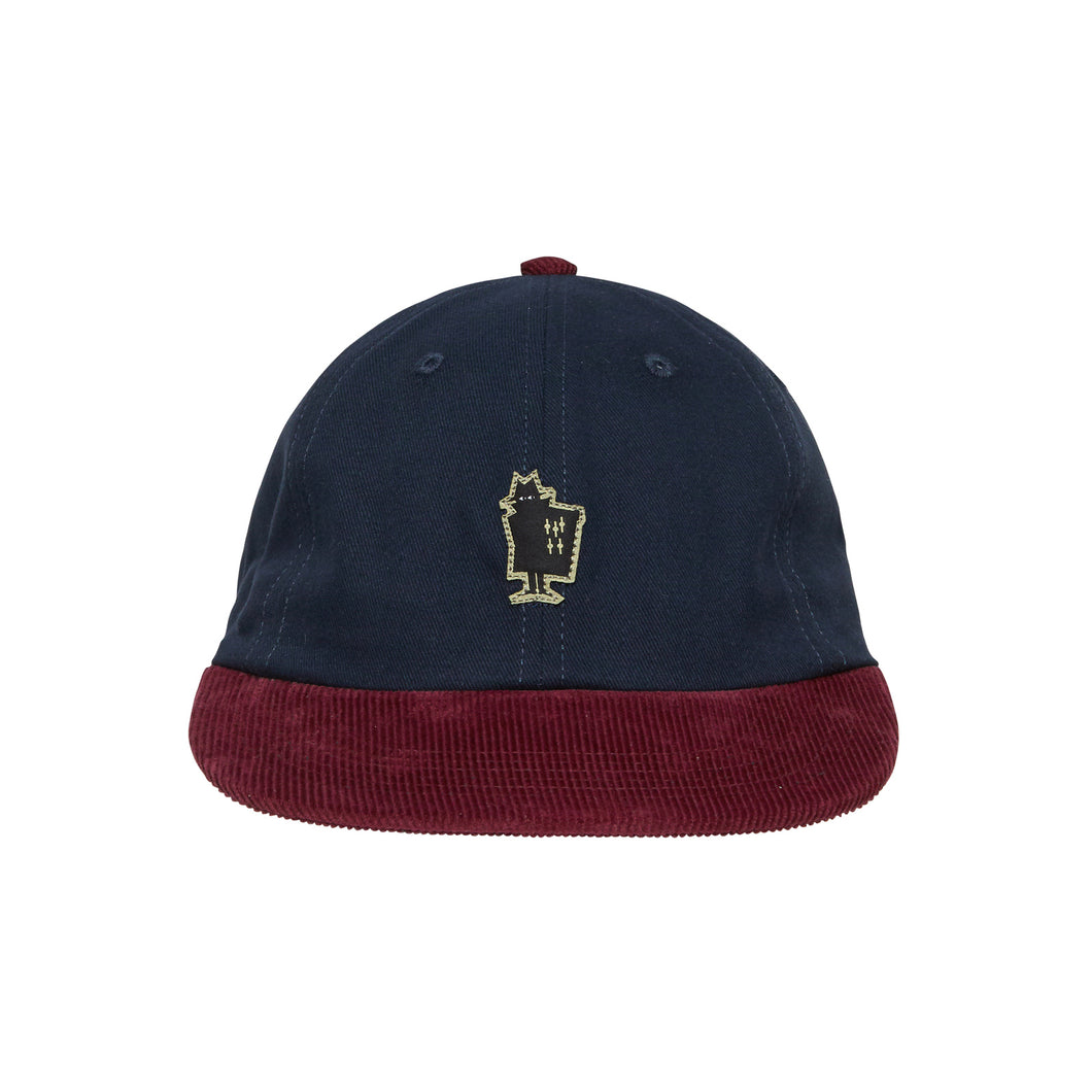 REAL BAD MAN WIDE BRIM 5 PANEL HAT // NAVY