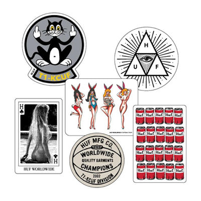 HUF STICKER PACK // ASSORTED