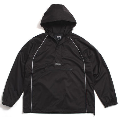 STUSSY 3M PIPING PULLOVER // BLACK-The Collateral