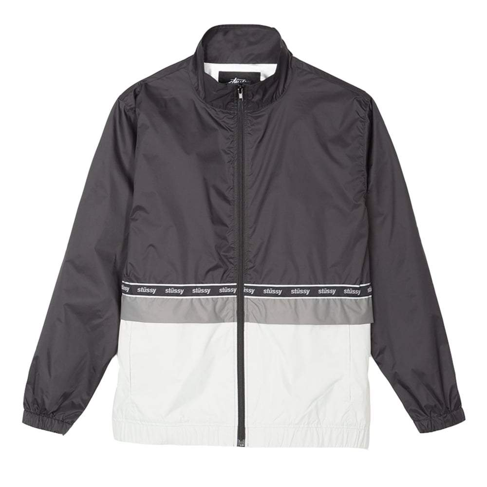 STUSSY NYLON WARM UP JACKET // BLACK-The Collateral