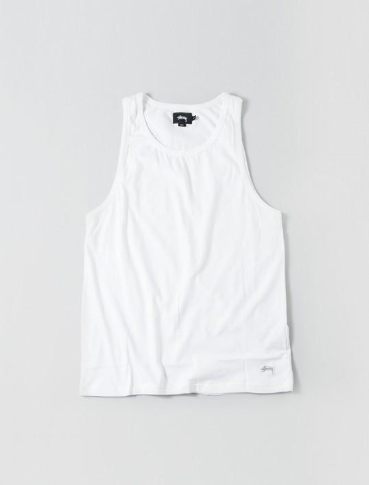 693900b01b3e18 STUSSY ORIGINAL STOCK TANK    WHITE-The Collateral