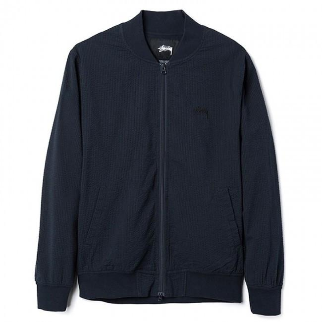 STUSSY SEERSUCKER BOMBER-The Collateral