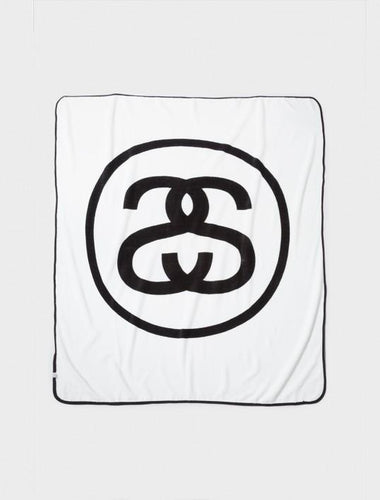 STUSSY SS-LINK FLEECE BLANKET // WHITE-The Collateral