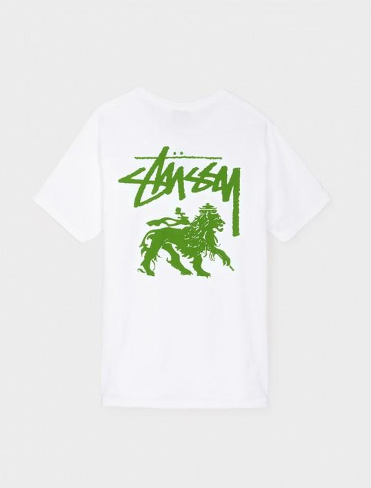 STUSSY STOCK LION TEE // WHITE-The Collateral