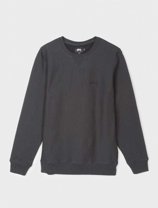 STUSSY STOCK LOGO CREW // BLACK-The Collateral