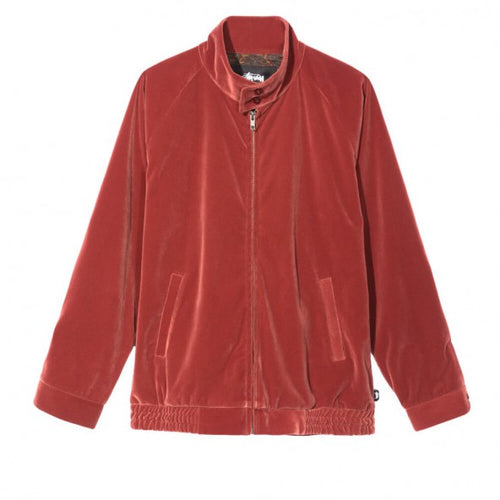 STUSSY VELVET HARRINGTON JACKET // ROSE