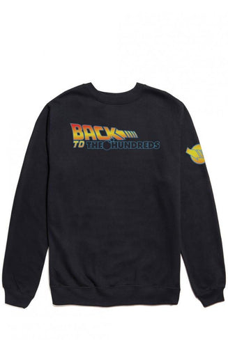 THE HUNDREDS BACK TO THE HUNDREDS CREWNECK // BLACK-The Collateral