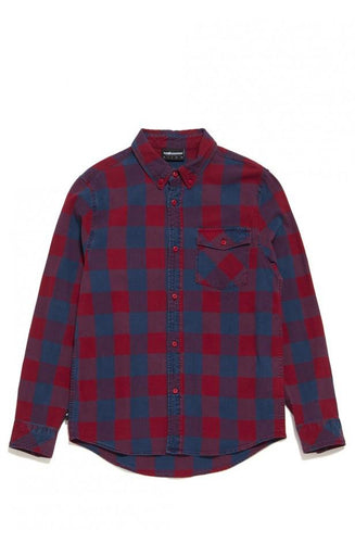 THE HUNDREDS RIDGE LONG SLEEVE WOVEN // RED-The Collateral