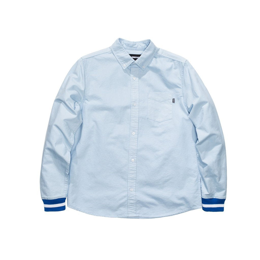 UNDEFEATED CUFF OXFORD L/SL SHIRT // LIGHT BLUE-The Collateral
