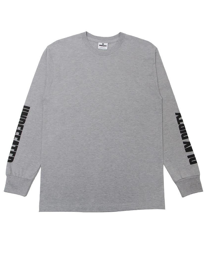 UNDEFEATED ONE TWO L/SL TEE // GREY HEATHER-The Collateral