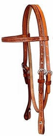 Entz Leaf Tooled Browband Bridle