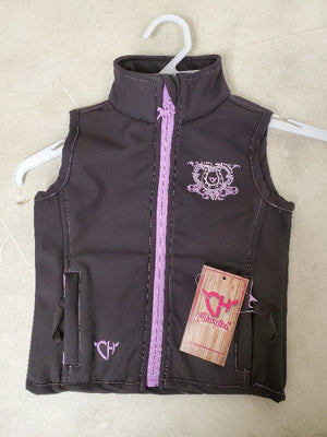 Cowgirl Hardware Wild and Free Bling Vest, Black/Purple