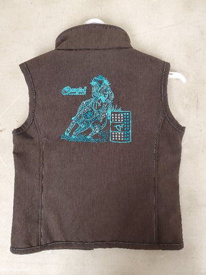 Cowgirl Hardware Teal Barrel Racer bling vest
