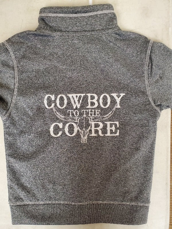 Cowboy Hardware Cowboy To The Core Cadet Sweatshirt, Charcoal