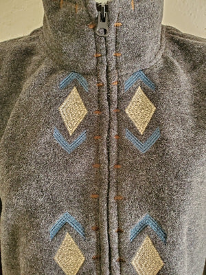 Outback Trading Avana Embroidered Fleece Coat