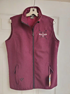 Cowgirl Hardware Soft Shell Vest with Horseshoe & Arrows, Pinot (MEDIUM Only)