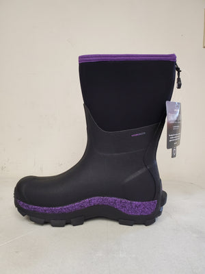 Dryshod Arctic Storm Mid-Cut Womens Winter Boot, Purple/Black