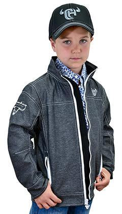 Kids Cowboy Hardware Woodsman Poly Tech Jacket Black heather