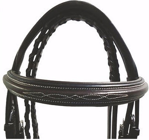 Stress Free Pro Mono Crown Raised Stitched Padded Bridle