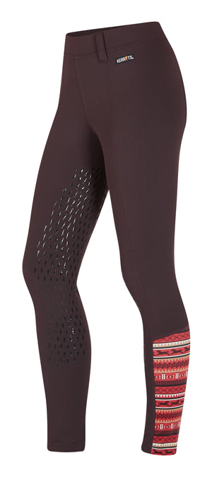 Kerrits Kids Thermo Tech Tight Full Grip Leg, Fig (LARGE ONLY)
