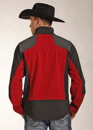 Powder River Outfitters Soft Shell Jacket, Red/Grey/Black