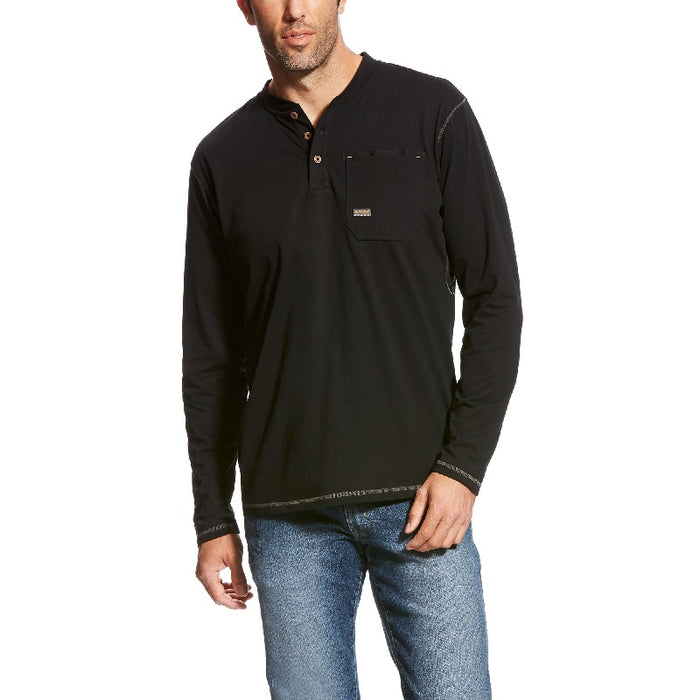 Ariat Men's Rebar Pocket Henley Top
